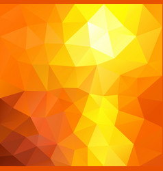 Polygonal square background summer orange yellow vector