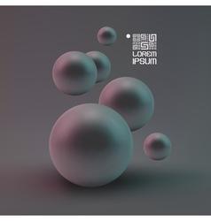 Random spheres background vector