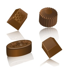Realistic chocolate candy isolated vector