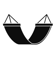 Rest hammock icon simple style vector