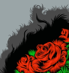Rose scene drawing vector
