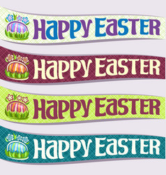 Set of ribbons for easter holiday vector