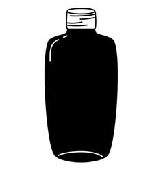 Silhouette long mason jar preserve art vector