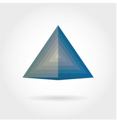 smooth color gradient triangle icon logo vector image