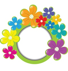Spring floral frame with place for your text vector image