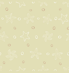 starfish in sand pattern vector image