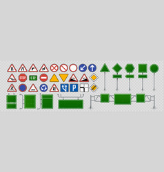 Street signs road direction and signboards and vector