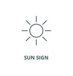 sun sign line icon linear concept outline vector image