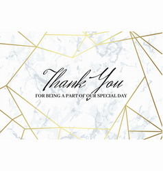 thank you design template vector image