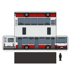 The paper model of a city bus vector