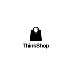 think shop logo design concept vector image