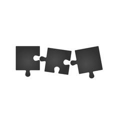 Three piece flat puzzle round infographic vector