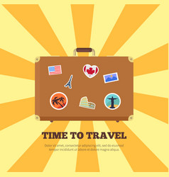 time to travel bright poster vector image