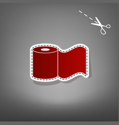 Toilet paper sign red icon with for vector