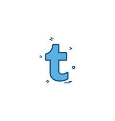 Tumblr icon design vector