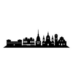 Turin skyline vector