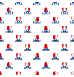 usa hat constitution day pattern seamless vector image