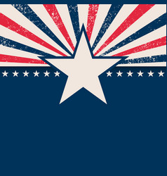 usa star rays background vector image
