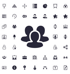 User group icon vector