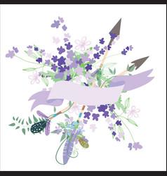 vintage romantic background vector image vector image