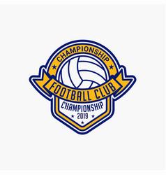 Volleyball club badge logo-3 vector