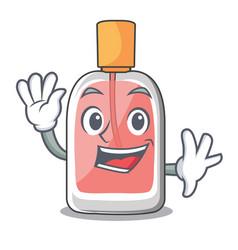 Waving parfum botlle shape on the cartoon vector