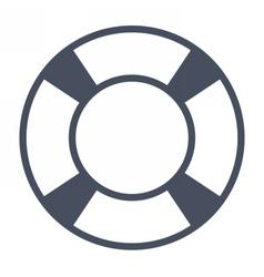 White Lifebuoy Icon vector