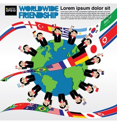 Worldwide friendship conceptual vector