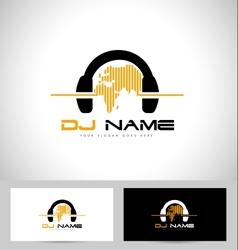 Dj Logo Design vector image