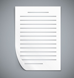 Empty paper three sheets vector image vector image
