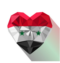 flat style logo symbol of love syria vector image