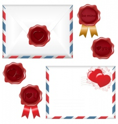 letter and wax seal vector image