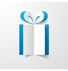 paper gift box vector image vector image