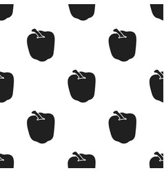 pepper icon black singe vegetables icon from the vector image