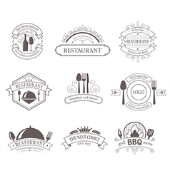 Set of vintage decorations labels vector image vector image