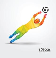 soccer football goalkeeper player geometric vector image