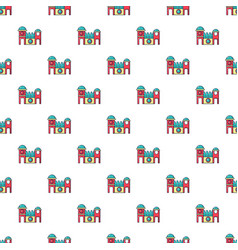 bounce house pattern seamless vector image