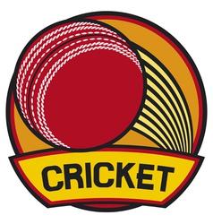 cricket symbol cricket label vector image vector image