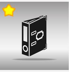 Folder black icon button logo symbol vector