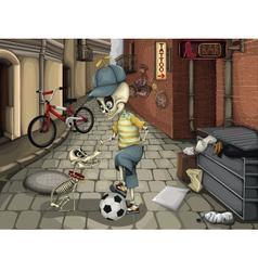 Street skeletons vector image