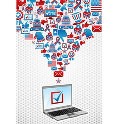 USA elections electronic voting vector image vector image