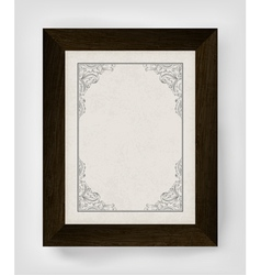 vintage frame with wooden frame vector image