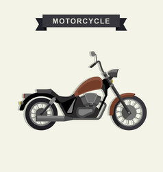 chopper motorcycle in flat style vector image vector image