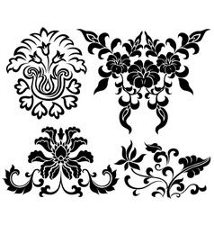 Flower element set vector