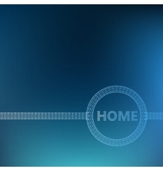 The inscription - Home Molecular lattice vector image vector image