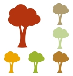 Tree sign vector image vector image