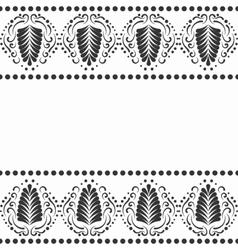 Black elegant border in damask retro style vector image vector image