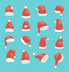 christmas santa claus red hat noel isolated vector image vector image