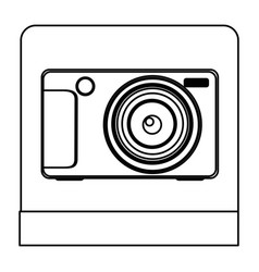 figure digital professional camera icon vector image vector image