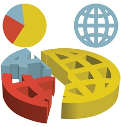 globe icons vector image vector image